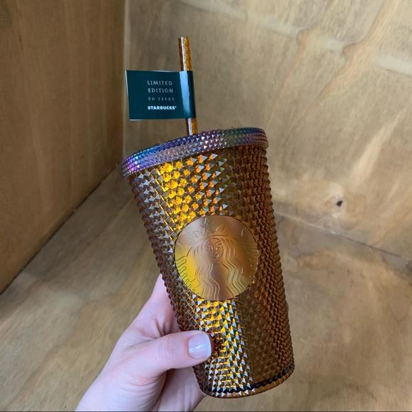 Starbucks grande honeycomb gold studded 2021